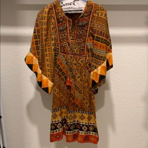 Tribal silk dress
